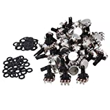 Yibuy Black Mini Size Guitar Pots B500K Volume Potentiometers for Guitar Parts Set of 100