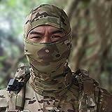 Lljin Camouflage Army Cycling Motorcycle Cap Balaclava Hats Full Face Mask Headgear (A)
