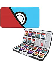 HEIYING Game Card Case for Nintendo Switch&Switch OLED&Switch Lite Game Card or Micro SD Memory Cards,Custom Pattern Switch Game Memory Card Storage with 24 Game Card Slots and 24 Micro SD Card Slots.(Blue Peek Red)