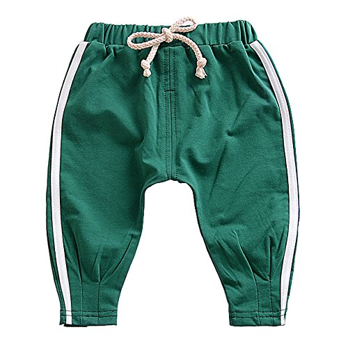 Ding-dong Baby Boys Girls Striped Pants(Green, 18-24M) (Any Day Chino Pants)