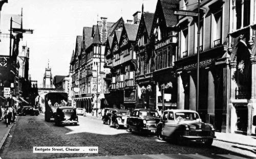 (Chester England Eastgate Street Real Photo Vintage Postcard)