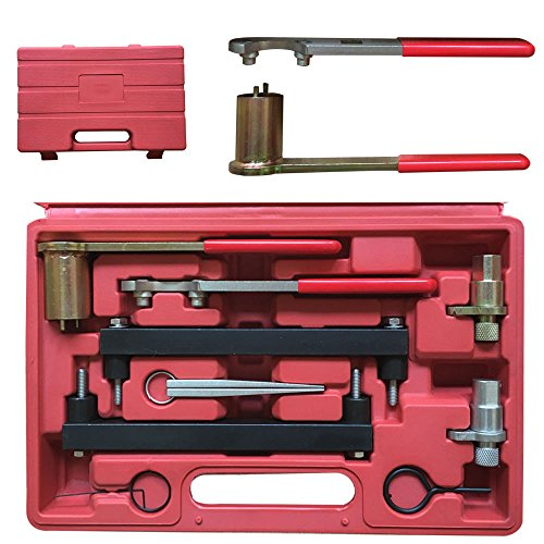9PCs Auto Engines Timing Tool Kit for Jaguar 97-08 Land Rover 3.2, 3.5, 4.0, 4.2 4.4 V8 with Carrying Case by TFCFL