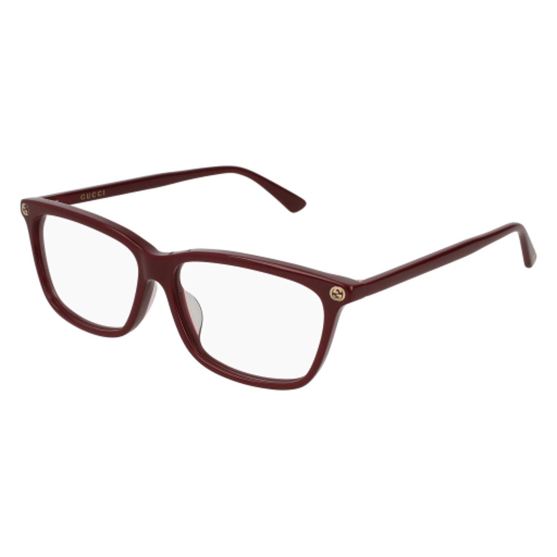 62c5686b72 Amazon.com  Gucci GG0042OA Eyeglasses 002 Havana-Havana   Clear Lens 55mm   Clothing