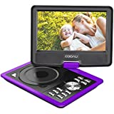 COOAU 11.5 Portable DVD Player with 5 Hour Rechargeable Battery, Game Joystick, 9.5 Swivel Screen, Support USB Port and SD Card, Region Free, Purple