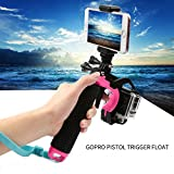 ARCHE GoPro Waterproof Pistol Shutter Trigger Kit for Gopro Hero 6 Black, Gopro Hero 5, Hero 4,Hero 3+ Hero 3, Hero+LCD Yi Action SJCAM Xiaomi (Blue/Green/Orange/Pink/Yellow) (Pink)
