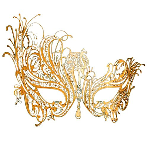 Gold Elegant Lady Masquerade Halloween Mardi Gras Party Mask