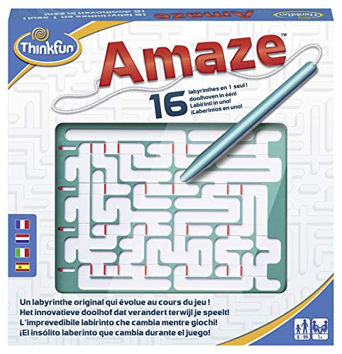 Ravensburger Amaze, Games, Brainteaser, Labyrinth, Thought, Child, Family, Challenge, Reflection, Girl, Boy, Easy, Difficult, 8-98 Years, 1 Player, Solve, Nomad, Compact, 4005556763658