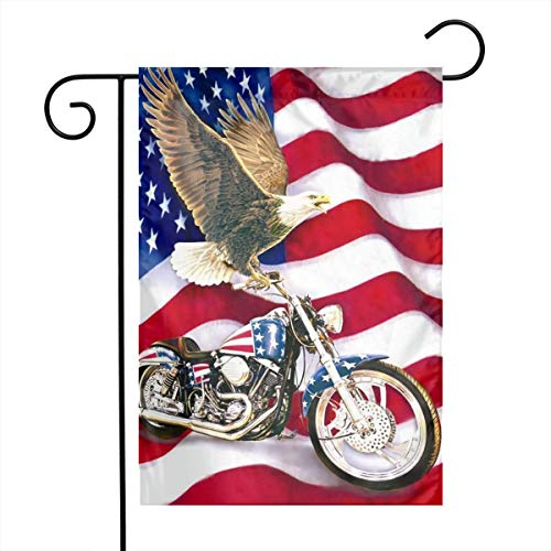 Eagle Mailbox Ornament - American Flag Eagle Handsome Cool Motorcycle Themed Welcome Mailbox Small Jumbo For Outdoor Decorations Ornament Picks Garden House Home Yard Traditional Decorative Front 12