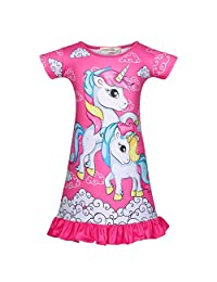 Little Girls Princess Pajamas Toddler Nightgown Dress