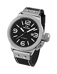 TW Steel Men's CS6 Analog Display Quartz Black Watch