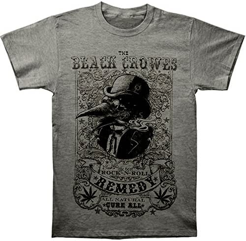 The Black Crowes Men's Remedy Slim Fit T-Shirt Grey