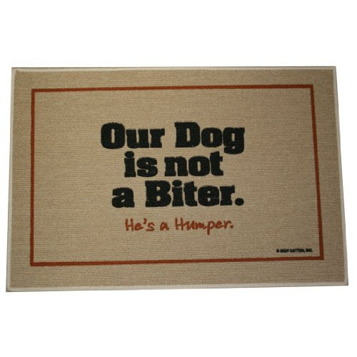 Beau Amazon.com : Our Dog Not A Biter Indoor/Outdoor Doormat : Indoor Doormat Dog  : Garden U0026 Outdoor