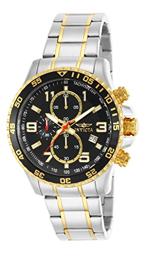 Invicta Men's 14876 Specialty Chronograph 18k Gold Ion-Plated and Stainless Steel Watch (Watch Round Plated)