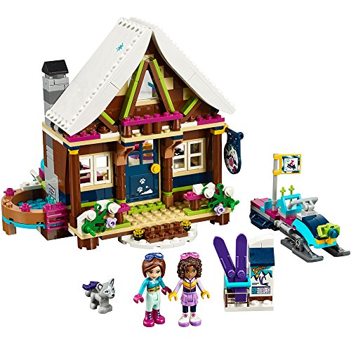 LEGO Friends Snow Resort Chalet 41323 Building Kit (402 Piece) (Girl Skis Fun)