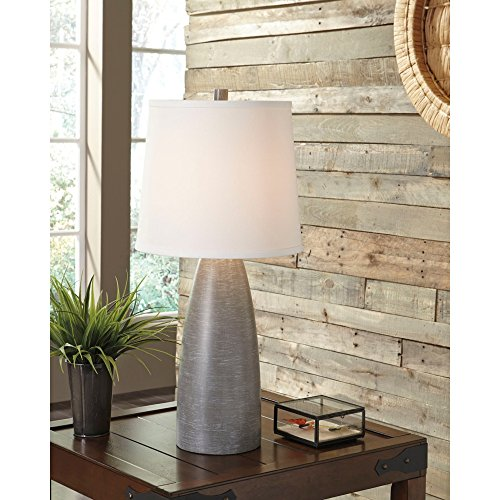 Ashley Furniture Signature Design - Shavontae Table Lamps - Set of 2 - Modern - Contemporary - Gray by Signature Design by Ashley (Image #4)'