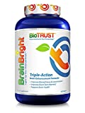 Cheap BioTrust Brain Bright Brain Booster Supplement | Energy, Focus, Memory and Clarity Support | Pure Ginkgo Biloba with Acetyl-L-Carnitine | Mental Performance Nootropic Supplement | 60 Tablets
