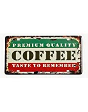 DiiliHiiri Placa De Matrícula Cartel Vintage para Pared de Chapa de Metal Diseño Creativo Decoraciones de Bar Pub Cafetería - Coffee