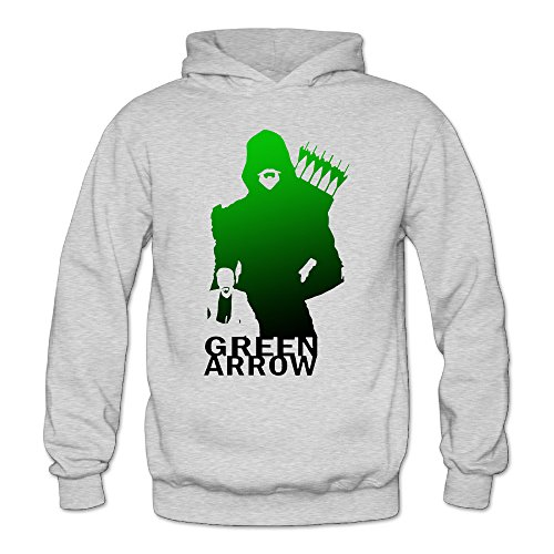 [DETO Women's Green Arrow Hoodies Ash Size S] (Green Arrow Hoodie Costume)