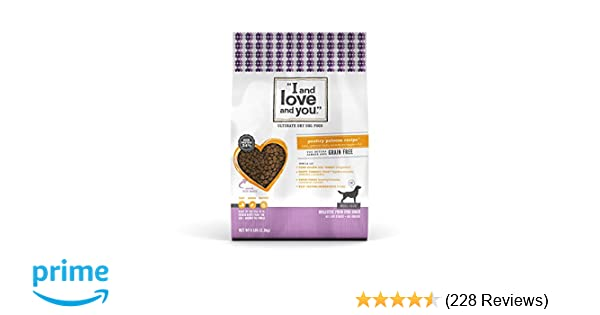 """I and love and you"""" Nude Food Poultry Palooza Grain Free Dry Dog Food, 5 LB"""