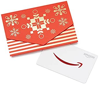 Amazon.com Gift Card in a Red and Gold Mini Envelope