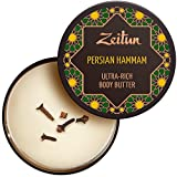 Zeitun Body Butter – Persian Hammam – Dry Skin Cream – Body Moisturizer – Shea Butter – Coconut Body Butter – Body Butter Cream – Amaranth Oil – Cinnamon And Spicy Essential Oil Blend 6.7 oz