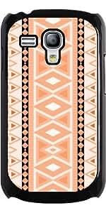 Case for Samsung Galaxy S3 Mini (GT-I8190) - tribal pattern vertical,peach