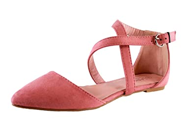 3d965cba81 Larena Fashion New Womens Flat Ankle Cross Strap Sandals Pointed Closed Toe  Comfy Smart Shoes: Amazon.co.uk: Shoes & Bags