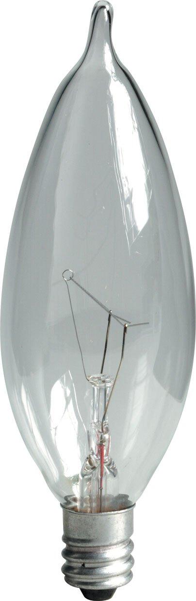 GE Lighting 40045 25-Watt 210-Lumen Bent Tip Light Bulb with Candelabra Base, 120-Pack