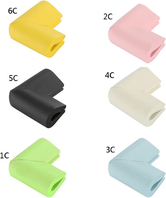 Blanc OuYou 8 PCS Coin de Table Protection B/éb/é Enfant Protecteur Prot/ège dangle S/écurit/é Couverture Mousse Pare-chocs Coussin