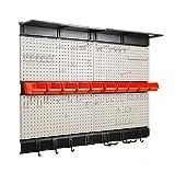 Ultrawall Garage Storage, 48x36 inch Pegboard with Hooks Garage Storage Bins Tool Board Panel Tool Organizer
