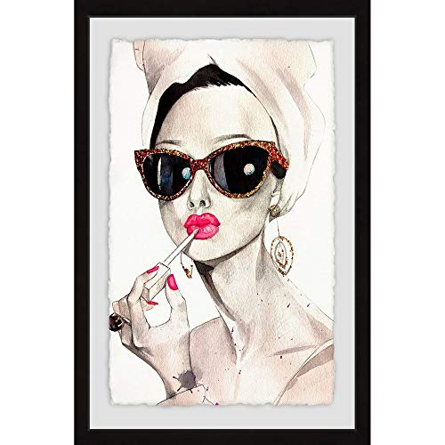 Marmont Hill Inc.. 'Audrey Hepburn' Framed Painting Print - Multi-Color 16 x 24 from Marmont Hill Inc.