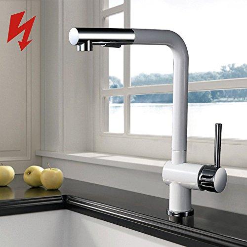 Homelody® Niederdruck Küchenarmatur Wasserhahn herausziehbar armatur ...