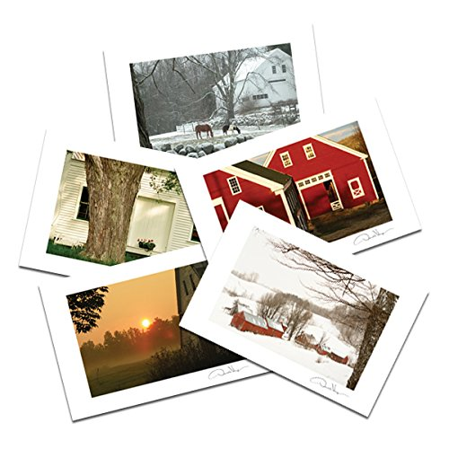 Barns Postcard Prints. Variety Pack. 4x6, 10 Pack, 2 of Each. Unique Birthday Cards, Thank You Notes & Invitations. Best Quality Christmas & Valentine's Day Gifts for Women, Men and Kids (Barn Baskets)