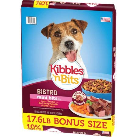 Bistro Mini Bits Small Breed Oven Roasted Beef Flavor Dog Food, 17.6-Pound Pack of 2 (Best Inexpensive Dog Food For Large Breeds)