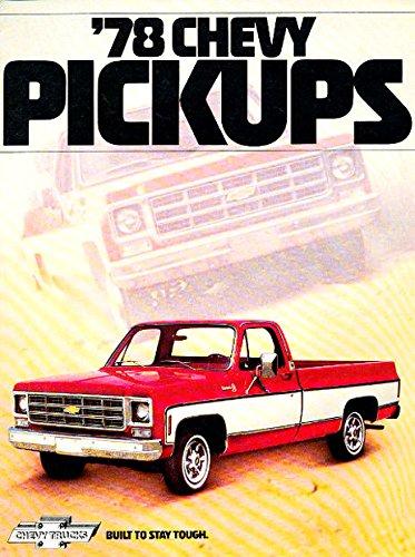- 1978 CHEVROLET PICKUP TRUCKS DEALERSHIP SALES BROCHURE - INCLUDES C10, C20, C30, K-10, and K20 4-Wheel Drive pickup, Fleetside, Stepside, Chassis Cab & Crew Cab