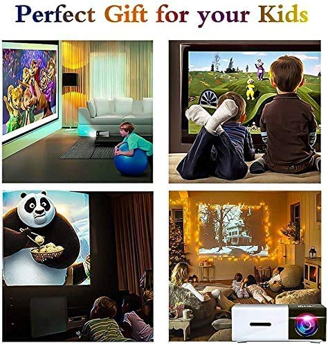 Pico Projector - Artlii 2021 New Mini Projector, Color LED Pico Projector for Cartoon, Movie, Kids Gift, Compatible with HDMI USB Laptop Video Games