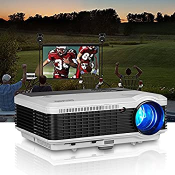 WXGA HDMI LCD Projector Outdoor Theater Support Full HD 1080P Video Projectors Home Cinema System 3600 Lumens Digital Smart Beamer for Movie Gaming TV Holiday Party Entertainment