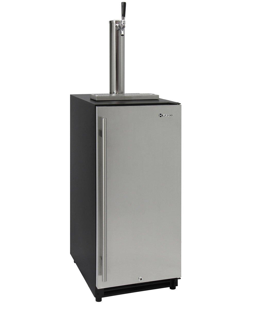 Kegco VSK-15SSRN 15'' Wide Built in Under Counter Kegerator with Stainless Steel Door