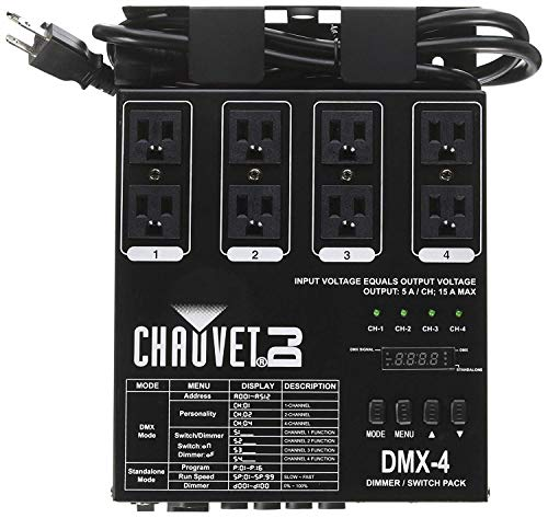 CHAUVET DJ DMX-4 Dimmer/Relay Pack | LED Light Controllers ()