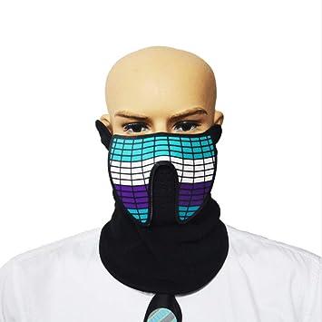 EL Voice-Aktivierte Licht Maske LED-Sound-Control-Maske Für ...