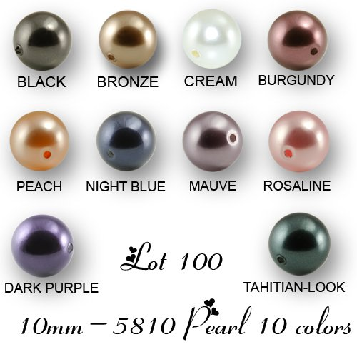 Wholesale Lot 100 10mm Swarovski 5810 Cr - Swarovski Pearl Beads Shopping Results