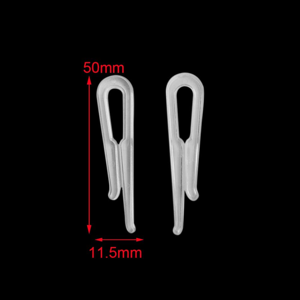 accessoire 7# 100pcs Mini pince en plastique pour robe cheveux chemise sous-v/êtements col