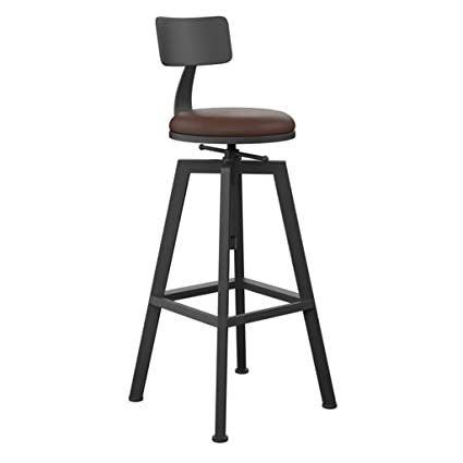 Amazing Amazon Com Lxn Vintage Industrial Wrought Iron Bar Stool Gamerscity Chair Design For Home Gamerscityorg