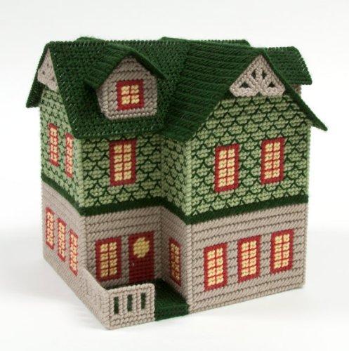 Shingled House Plastic Canvas Kit (Small House Shingled)