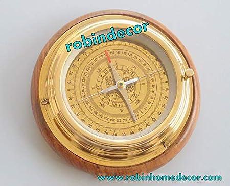 "Vintage Antique Style 2/"" Brass Heavy Maritime Navigational Compass"