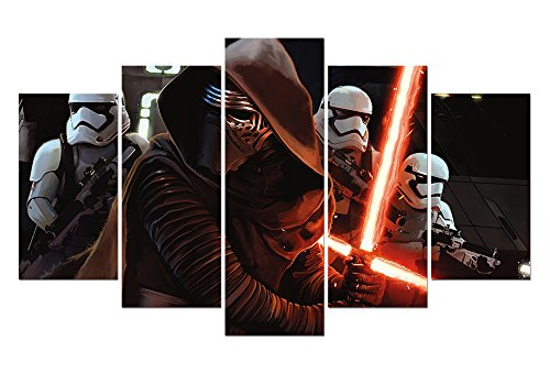 LMPTARTTM-60x32-inches-Print-Star-Wars-Episode-VII-The-Force-Awakens-movie-poster-film-poster-Modern-home-decor-wall-art-print-kids-decor-print-Painting-on-canvas-art-with-framed-ready-to-hang-wall