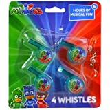 PJ Masks Whistle 3 Packs of 4, Party Favor Supply Decoration