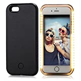 iPhone 6 Plus Case, Elftear LED Light Up Luminous Selfie Cell Phone Case Illuminated Back Cover for Apple iPhone 6S Plus iPhone 6 Plus (Black)