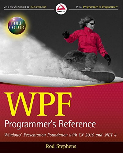 [(WPF Programmer's Reference : Windows Presentation Foundation with C# 2010 and .NET 4)] [By (author) Rod Stephens] published on (March, 2010)
