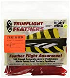 TRUEFLIGHT FEATHERS PARABOLIC SOLID COLOR 4 RW RED 100/PK.